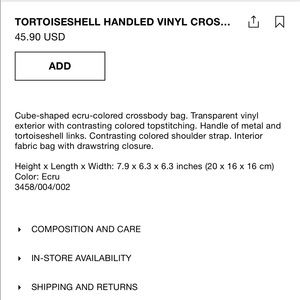 Zara Bags - Zara Tortoiseshell Vinyl Crossbody Bucket Bag